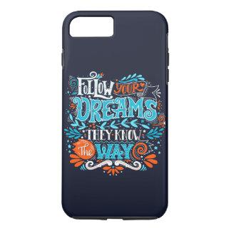 Siga seus sonhos capa iPhone 8 plus/7 plus