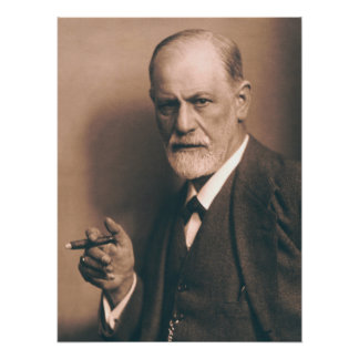 Sigmund Freud com poster do charuto Pôster