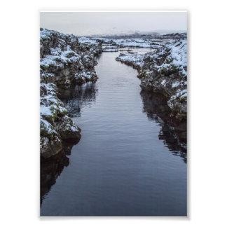 Silfra em Islândia Impressão De Fotos
