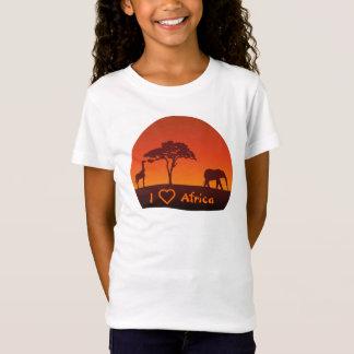Silhueta africana do safari - a camisa do miúdo