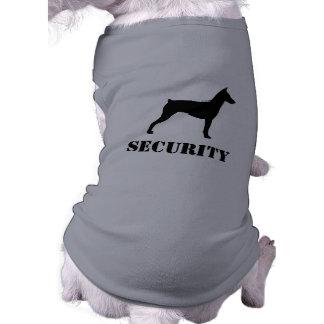 Silhueta alemão do Pinscher com texto feito sob Camisa Sem Mangas Para Cachorro