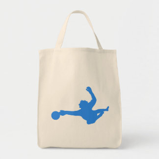 Silhueta azul do Goalie do futebol Bolsa
