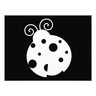 Silhueta bonito do joaninha impressão de foto