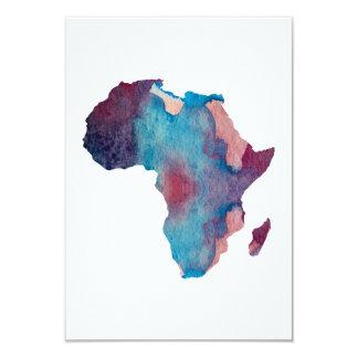 Silhueta colorida de África Convite 8.89 X 12.7cm