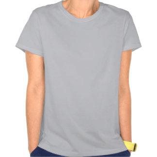 Silhueta com um poema camiseta