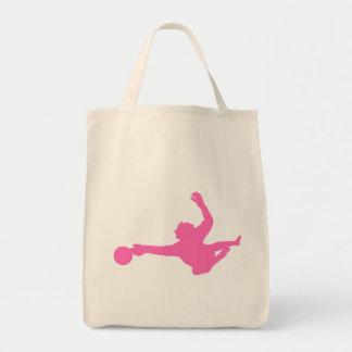 Silhueta cor-de-rosa do Goalie do futebol Bolsa