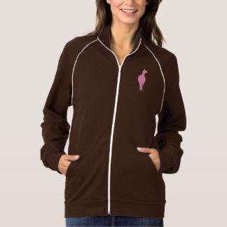 Silhueta cor-de-rosa do lama (revestimento jaquetas para estampar