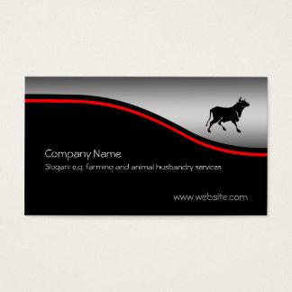 Silhueta de Bull, swoosh vermelho no Cartão De Visitas
