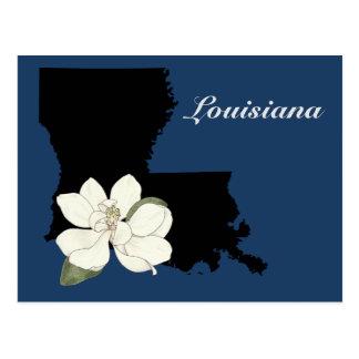 Silhueta de Louisiana Cartão Postal
