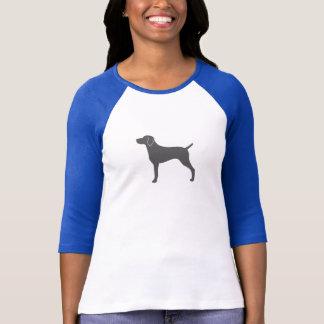 Silhueta de Weimaraner T-shirt