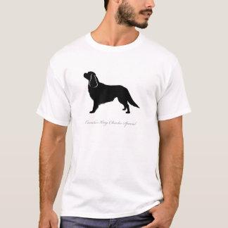Silhueta descuidado do Spaniel de rei Charles T-shirts