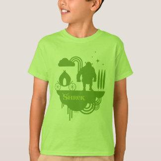 Silhueta do conto de fadas de Shrek Camisetas
