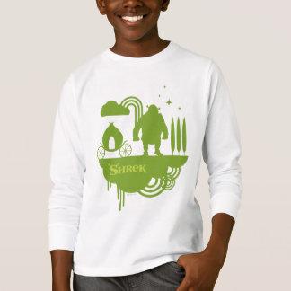 Silhueta do conto de fadas de Shrek T-shirts