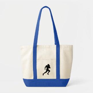 Silhueta do jogador de futebol bolsa para compras