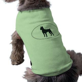 Silhueta do Pinscher diminuto Camisa Sem Mangas Para Cachorro