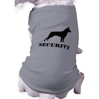 Silhueta do Pinscher diminuto com texto feito sob Camisa Sem Mangas Para Cachorro