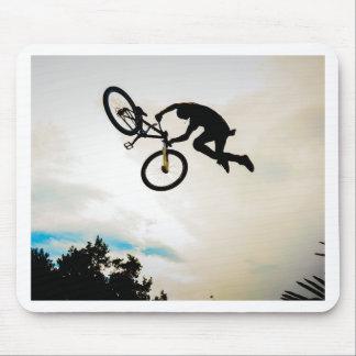 Silhueta do tempo de antena do motociclista da mon mouse pad