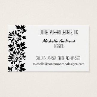 Silhueta floral cartão de visitas