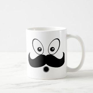 Silhueta Mustach Fuuny Caneca De Café