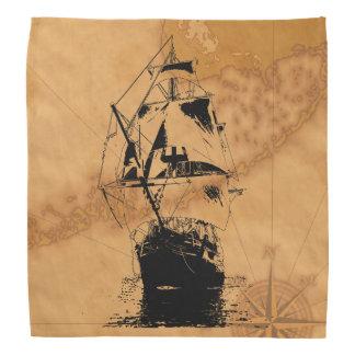Silhueta preta do navio