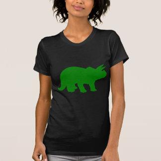 Silhueta verde do dinossauro do Triceratops