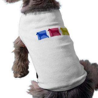 Silhuetas coloridas do Pinscher do Doberman Camisa Sem Mangas Para Cachorro