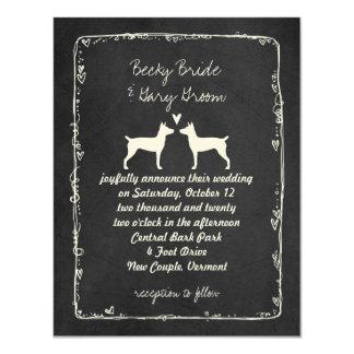 Silhuetas de Terrier de rato que Wedding o anúncio Convite 10.79 X 13.97cm