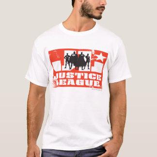 Silhuetas do logotipo e do caráter da liga de camiseta