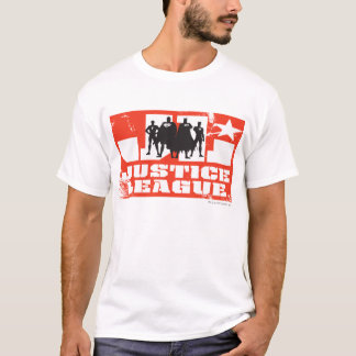 Silhuetas do logotipo e do caráter da liga de t-shirts