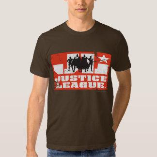 Silhuetas do logotipo e do caráter da liga de tshirt