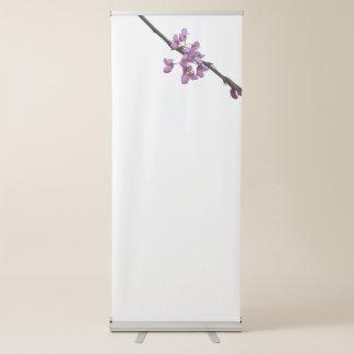 siliquastrum do redbud na flor no jardim banner retrátil