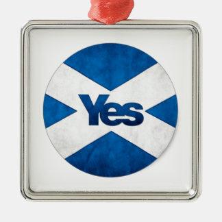 Sim a Scotland independente 'Saor alba vai Bragh Ornamento Quadrado Cor Prata
