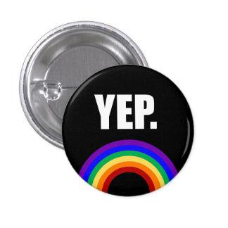 """""""Sim"""" botão engraçado do Pin-para trás da bandeira Bóton Redondo 2.54cm"""