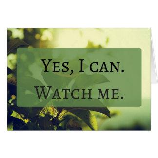 Sim, eu posso. Olhe-me Cartão