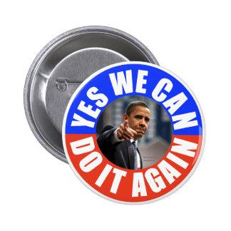 Sim nós podemos fazê-lo outra vez Obama arredondam Bóton Redondo 5.08cm