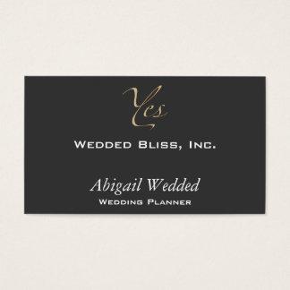 Sim - planejador do casamento cartão de visita