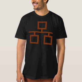 Símbolo alaranjado desvanecido do Grunge do Tshirt