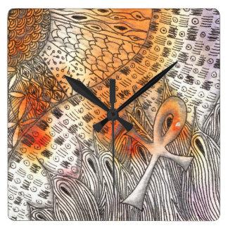 Símbolo Ankh de Tarot Relógios De Paredes