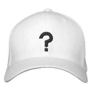 ? Símbolo bordado ponto de interrogação no chapéu Boné Bordado