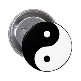 símbolo branco preto de yang do yin bóton redondo 5.08cm