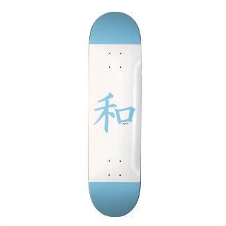 Símbolo chinês dos azuis bebés para a paz skate
