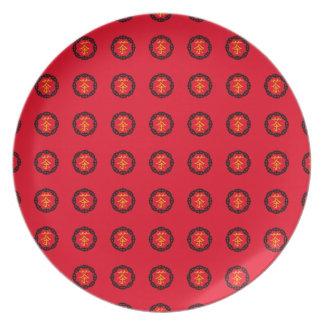 Símbolo chinês para o chá, símbolo do círculo do pratos