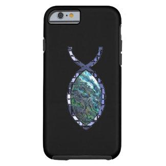 Símbolo cristão brilhante dos peixes capa tough para iPhone 6