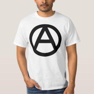Símbolo da anarquia camisetas