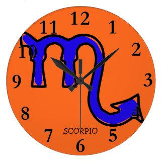 Símbolo da Escorpião Relógio Grande