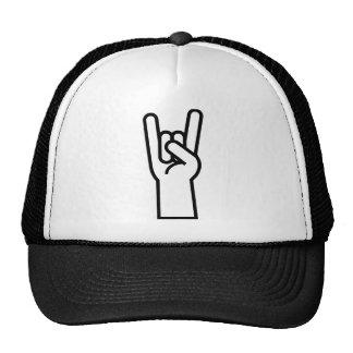 Símbolo da mão da rocha & do rolo boné