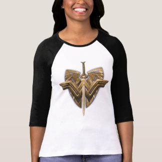 Símbolo da mulher maravilha com a espada de camisetas