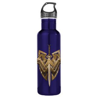 Símbolo da mulher maravilha com a espada de garrafa d'água