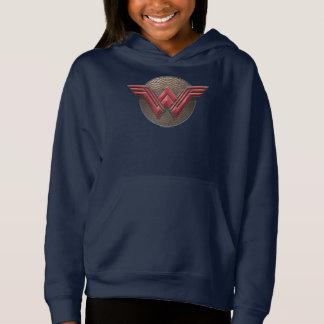 Símbolo da mulher maravilha sobre círculos tshirt