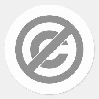 Símbolo de Anti-Copyright do dominio público Adesivo